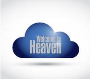 Boa vinda ao projeto da ilustração do sinal da nuvem do céu Foto de Stock