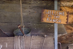 Boa vinda ao rancho foto de stock