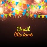 Boa vinda ao Rio 2016 de Brasil Fotografia de Stock