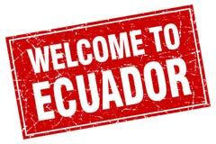 boa vinda ao selo de Equador ilustração do vetor