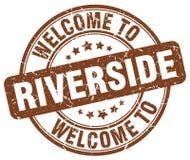 Boa vinda ao selo do beira-rio ilustração do vetor