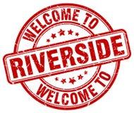 Boa vinda ao selo do beira-rio ilustração stock