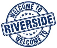 Boa vinda ao selo do beira-rio ilustração royalty free