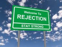 Boa vinda ao sinal da rejeção Fotos de Stock