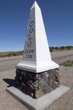 Boa vinda ao sinal de estrada de Colorado Imagens de Stock