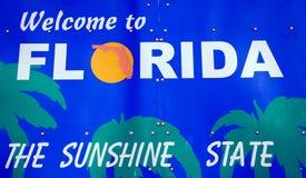 Boa vinda ao sinal de Florida Imagem de Stock Royalty Free