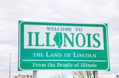 Boa vinda ao sinal de Illinois Fotografia de Stock Royalty Free