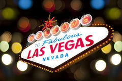 Boa vinda ao sinal de Las Vegas Imagens de Stock Royalty Free