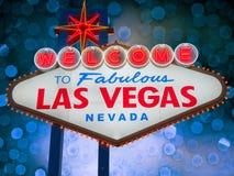 Boa vinda ao sinal de Las Vegas Fotografia de Stock