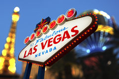 Boa vinda ao sinal de Las Vegas Foto de Stock Royalty Free