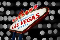 Boa vinda ao sinal de Las Vegas Imagem de Stock