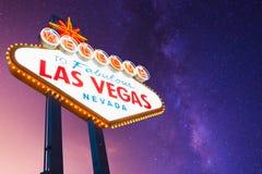 Boa vinda ao sinal de Las Vegas Fotos de Stock Royalty Free