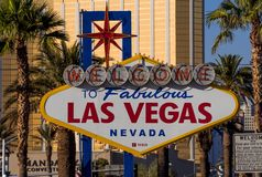 Boa vinda ao sinal de Las Vegas em Las Vegas Boulevard - LAS VEGAS - NEVADA - 12 de outubro de 2017 Foto de Stock