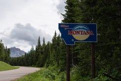 Boa vinda ao sinal de Montana fotografia de stock