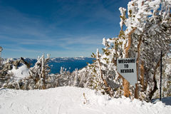 Boa vinda ao sinal de Nevada foto de stock