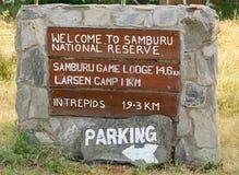 Boa vinda ao sinal de Samburu Fotos de Stock Royalty Free