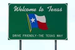 Boa vinda ao sinal de Texas fotografia de stock royalty free