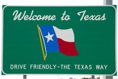 Boa vinda ao sinal de Texas Imagem de Stock