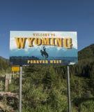 Boa vinda ao sinal de Wyoming Imagens de Stock Royalty Free