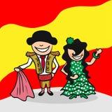 Boa vinda aos povos da Espanha ilustração stock
