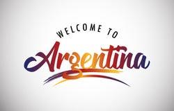 Boa vinda a Argentina! ilustração stock