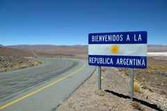 Boa vinda a Argentina! Fotografia de Stock