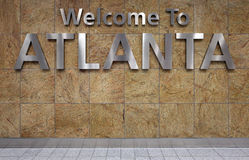 Boa vinda a Atlanta imagem de stock