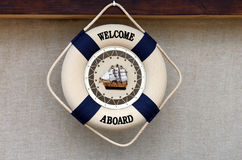 Boa vinda a bordo Foto de Stock