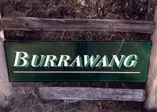 Boa vinda a Burrawang fotografia de stock