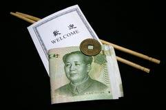 Boa vinda a China foto de stock