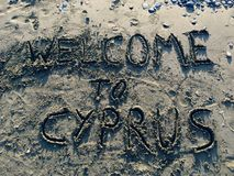 Boa vinda a Chipre Foto de Stock Royalty Free