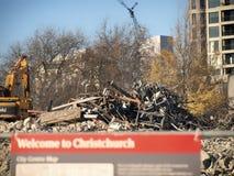 Boa vinda a Christchurch, 20° de maio de 2012 Imagens de Stock