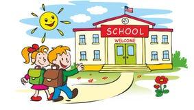 Boa vinda de volta à escola ilustração royalty free