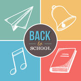 Boa vinda de volta à escola Imagens de Stock Royalty Free