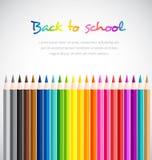 A boa vinda de volta à escola com cor escreve o fundo Imagens de Stock Royalty Free