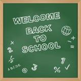 Boa vinda de volta à escola Placa de escola Fotografia de Stock