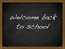Boa vinda de volta ao quadro-negro da escola Fotografia de Stock Royalty Free