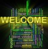 Boa vinda de Wordcloud Foto de Stock Royalty Free