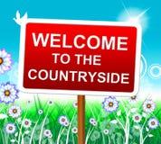 A boa vinda do campo mostra o cumprimento e o convite da natureza Foto de Stock Royalty Free