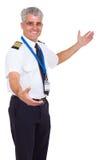 Boa vinda do piloto da linha aérea Fotografia de Stock