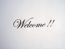 Boa vinda do texto escrita Fotos de Stock Royalty Free