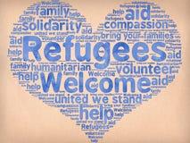 Boa vinda dos refugiados Imagem de Stock Royalty Free
