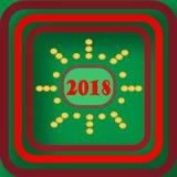 Boa vinda e ano novo feliz 2018 que comemoram imagem de stock