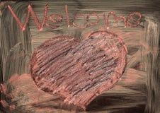 Boa vinda e coração Imagem de Stock Royalty Free