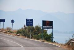 Boa vinda em Albânia Fotografia de Stock Royalty Free