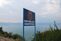 Boa vinda em Albânia Foto de Stock Royalty Free