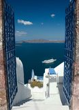 Boa vinda em Santorini Fotografia de Stock Royalty Free