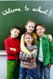 Boa vinda à escola Imagens de Stock Royalty Free