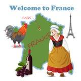 Boa vinda a France Foto de Stock