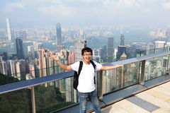 Boa vinda a Hong Kong Foto de Stock